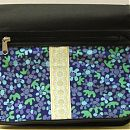 sinikukka&nauha tuunattu laukku