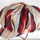 Eemeli-lakki puna raitainen