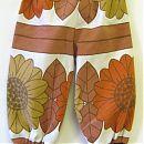 74cm ruskea kukka-kuvio