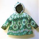 Vihreäkukallinen takki, 86cm