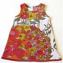 Hihaton mekko, vaalea kukkakuvio, 116cm