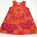 Hihaton mekko, oranssikukallinen 110cm