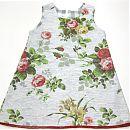 Hihaton mekko 104cm, vaalea, ruusuja