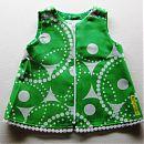 Hihaton mekko 62cm, vihreä-valkoinen