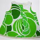 Hihaton mekko 68cm, vihreä-valkoinen