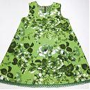 Hihaton mekko 110cm, vihreä, ruusuja