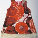 Hihaton mekko 104cm, vaalea pohja, isot kukat