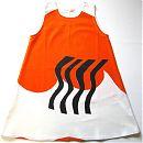 Hihaton mekko 116cm,  oranssi kuvio