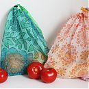 Ekologiset, uudelleenkäytettävät hedelmäpussit