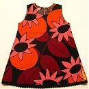 Musta-punainen hihaton mekko 92